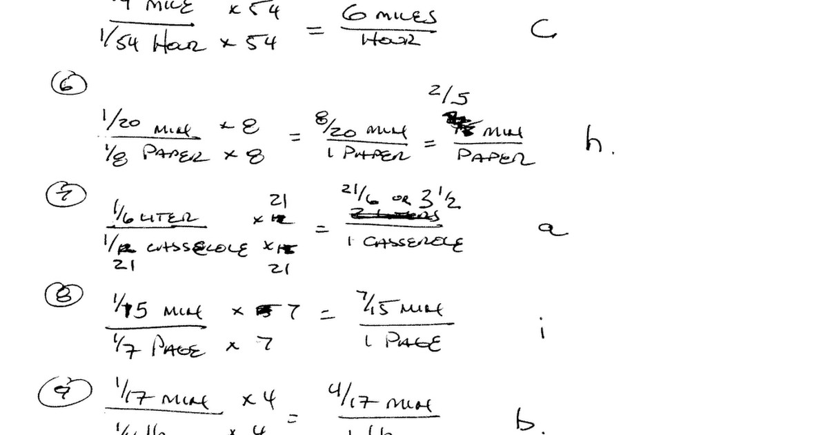 unit rates and ratios of fractions matching worksheet answers & Ratio And Fraction Worksheets