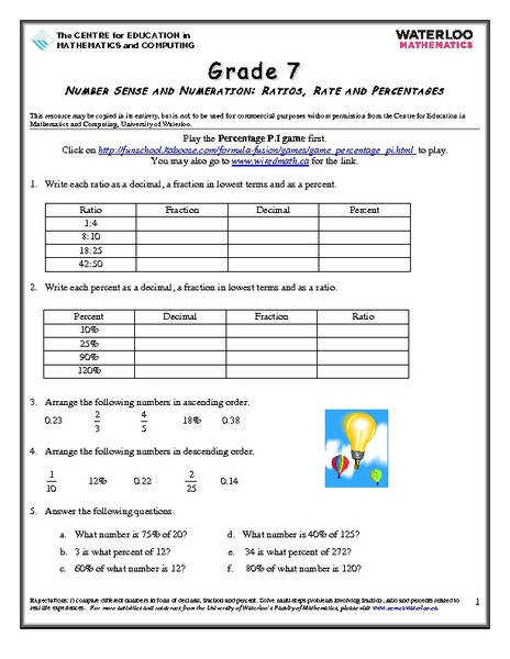 Worksheet Ratios Unit Rates and Proportions