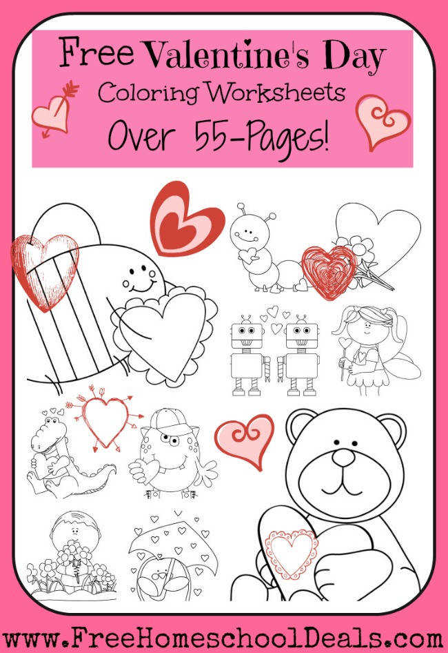 Free Valentine s Day Coloring Worksheets
