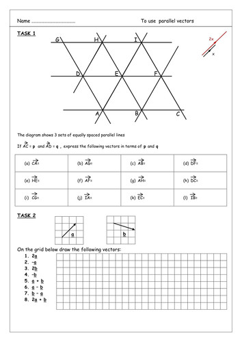 Vector Worksheet