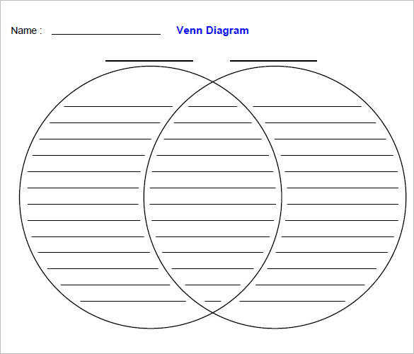 Create Venn Diagram Worksheets Using 2 Sets