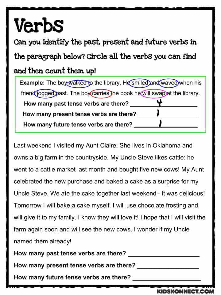Download the Past Present & Future Verbs Worksheet