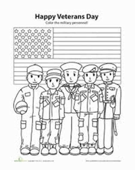 Happy Veterans Day Printable Coloring Pages Clip Arts Crafts