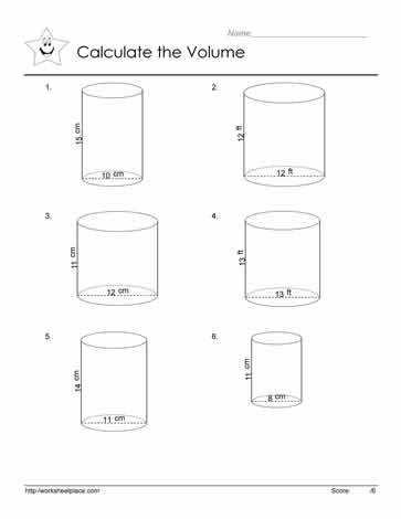 Volume of a cylinder worksheet Use the volume formula to answer the cylinder questions What is the volume of a cylinder Use this formula V = πr2h