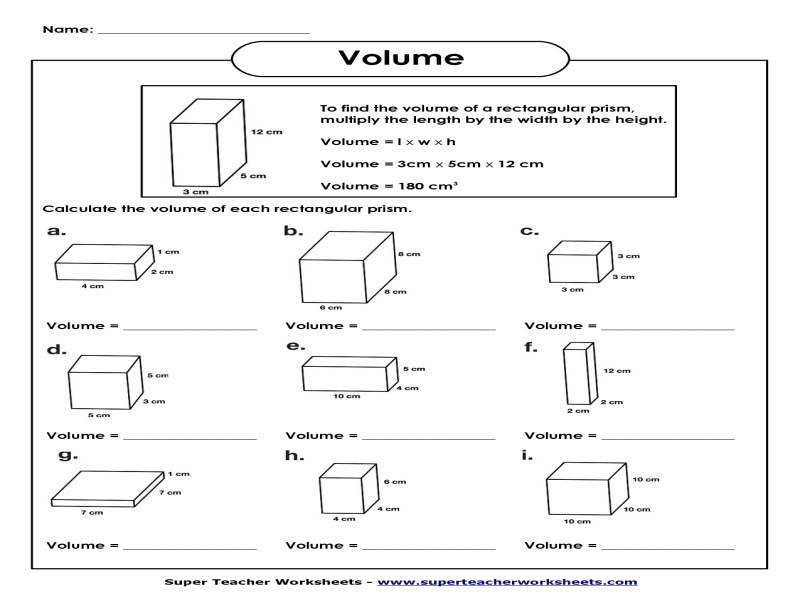 Volume Triangular Prism Worksheet Worksheets