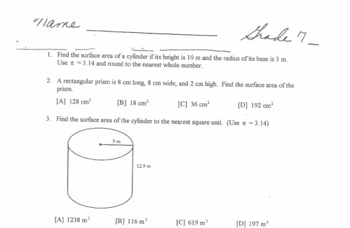 8th Grade Worksheets Solve real world and mathematical problems involving volume of cylinders cones and spheres