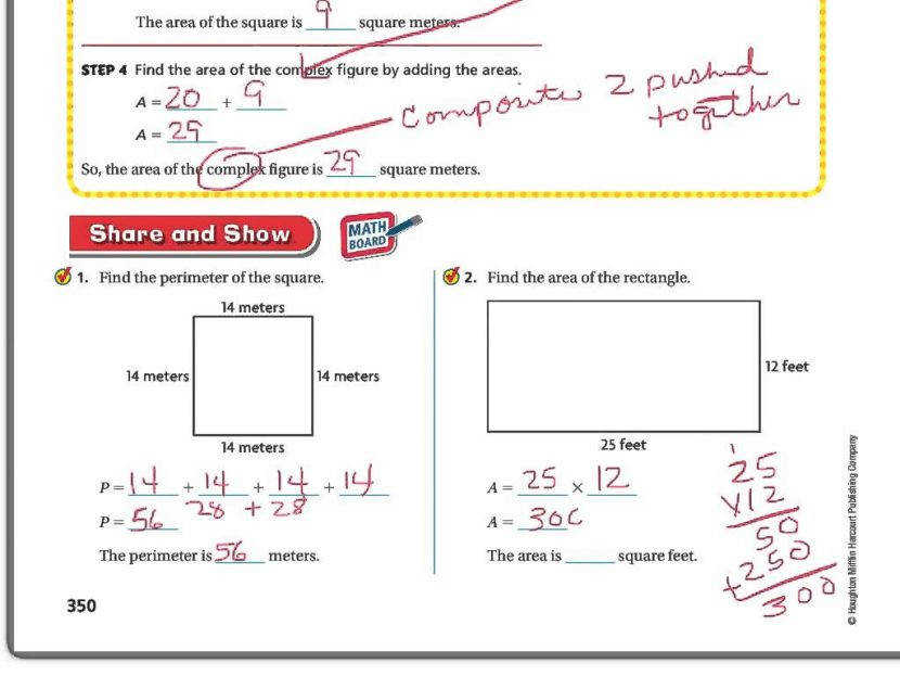 5th Grade Go Math 9 1 Formulas For Area And Perimeter Youtube mon Core Volume Worksheets