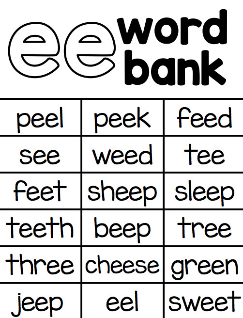My main purpose in beginning this packet was to have some good independence friendly worksheets to help my kids practice and apply their knowledge of vowel
