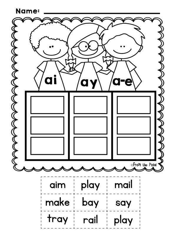 Vowel Team Posters Words Sorts and Worksheets Sound Pals