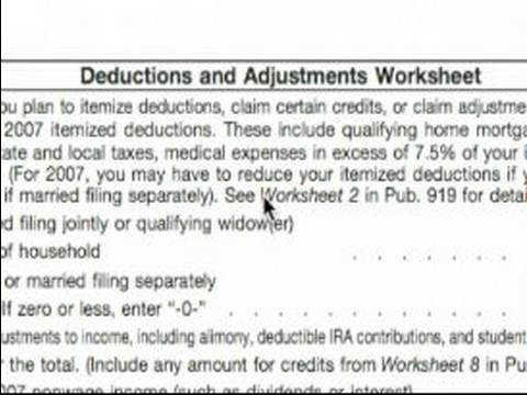 Basic Explanation of W 4 tax Form Deductions & Adjustments Worksheet W 4 Tax Form
