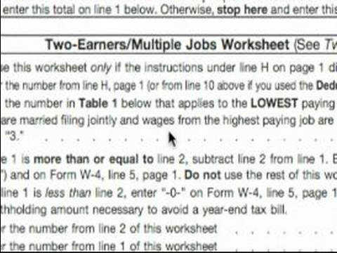 Basic Explanation of W 4 tax Form Two Earners & Multiple Jobs W 4 Tax Form