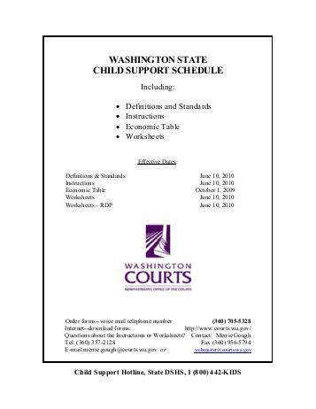 Worksheets Wa State Child Support Worksheet washington child support worksheet instructions intrepidpath state schedule kitsap county