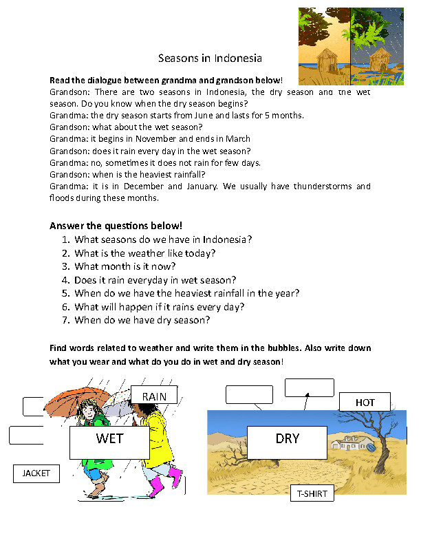 FREE Weather Worksheets