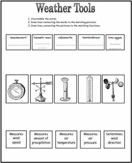 Weather Tools Worksheet