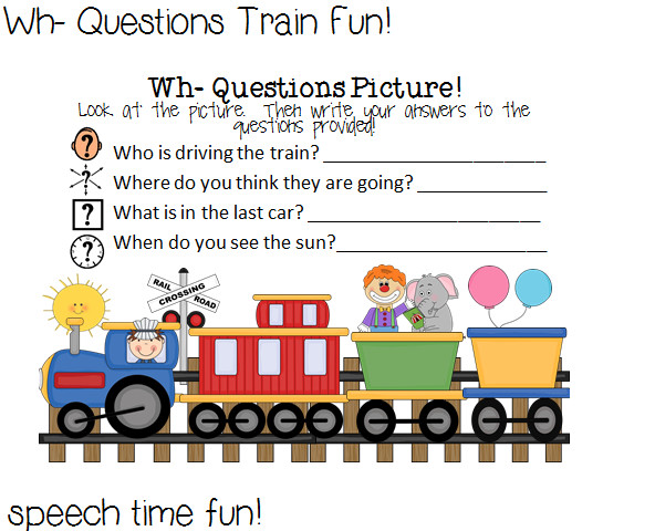 Wh Question Picture Worksheet Students will answer questions on the worksheet based on the picture provided who what where when