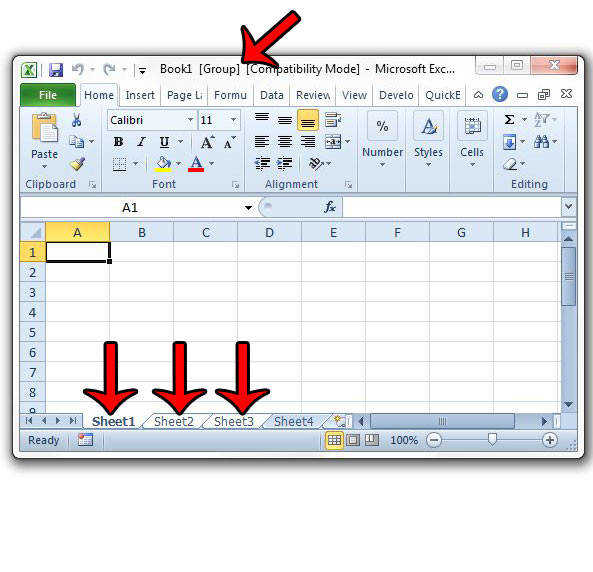 How to Enter Data Into Multiple Worksheets at the Same Time in Excel 2010 Solve Your Tech