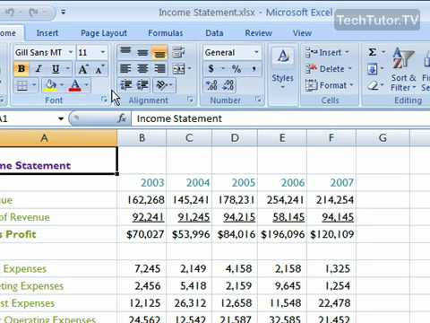 Insert a New Worksheet in Excel 2007