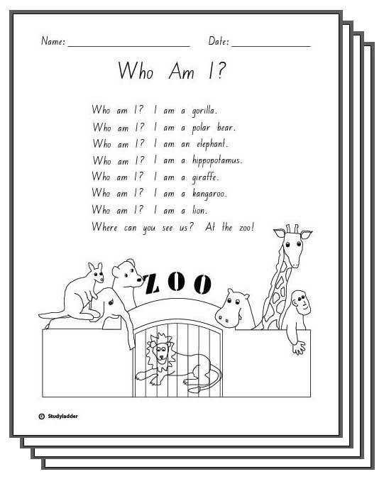 Who Am I Response Activity Sheets English skills online interactive activity lessons