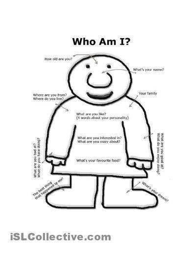 Easy Who Am I Worksheet Body Who Am I Worksheet Free Esl Printable
