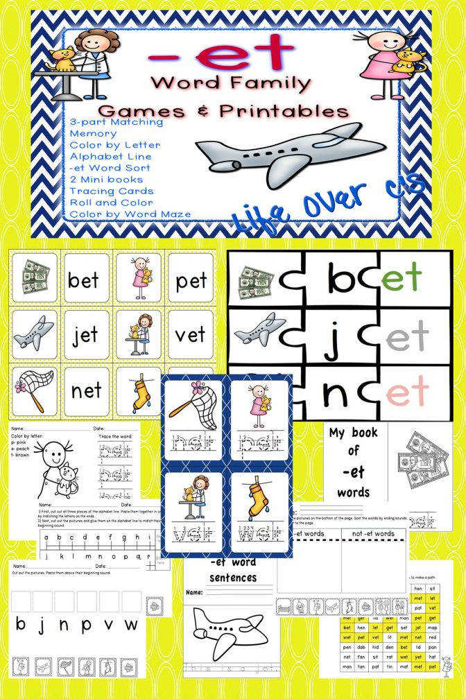 Et Word Family Cvc Gamescenters And Worksheets Usuk Versions Kindergarten Members 054e974e3928b5daf598e8cf615 Kindergarten Family Worksheets Worksheet