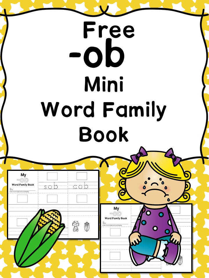 Teach the ob word family using these ob cvc word family worksheets Students make a