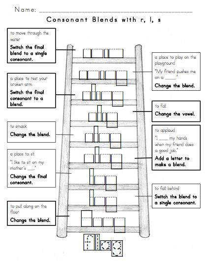 Free Word Ladder Worksheets Use with students in the Within Word Pattern Stage