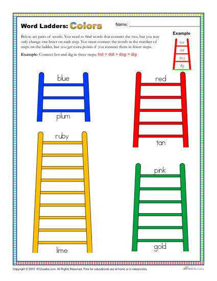 Word Ladders Colors