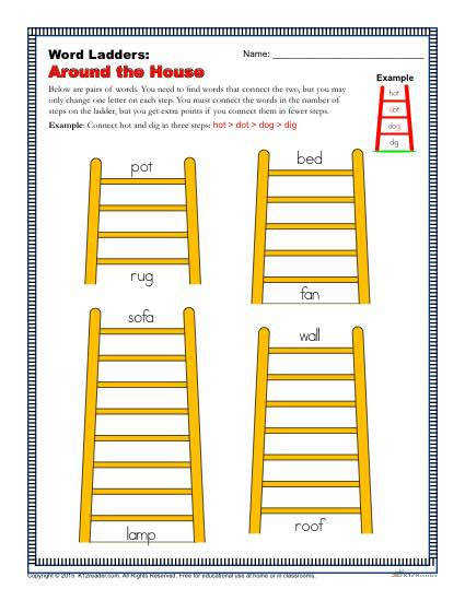 Word Ladders Around the House