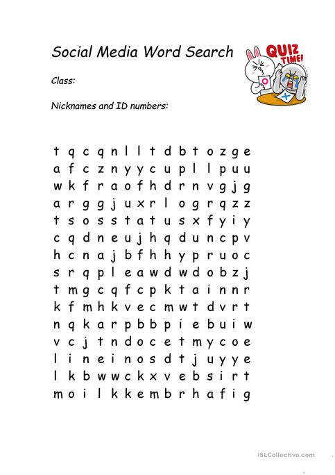 Social Media Word Search