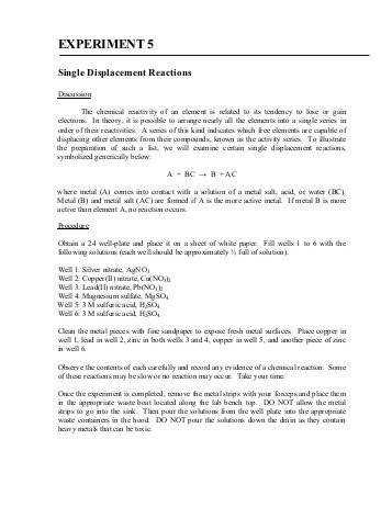 Double Replacement Reactions Worksheet Bhbrfo