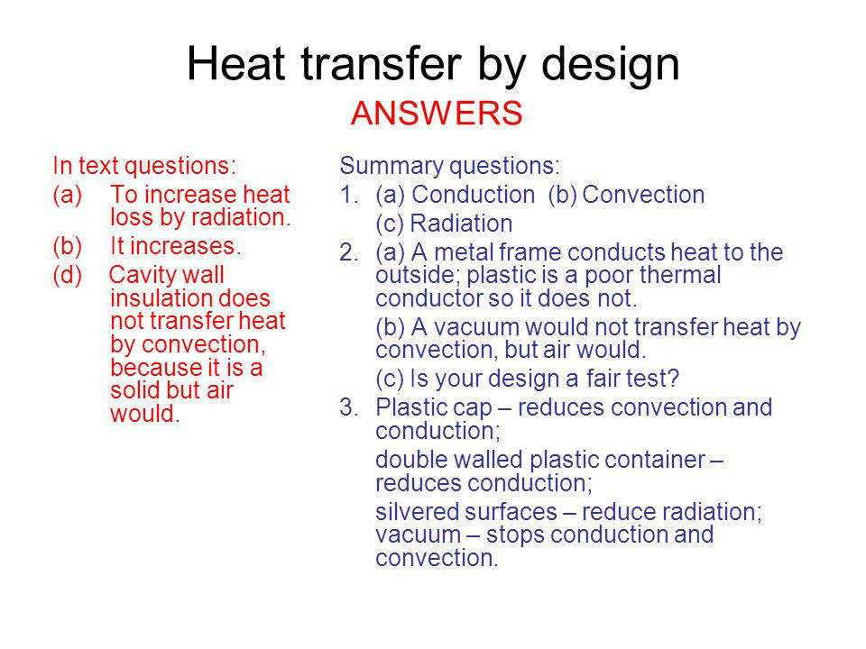Worksheets Worksheet Methods Heat Transfer Answers aqa gcse 1a 1 heat transfer physics pages 24
