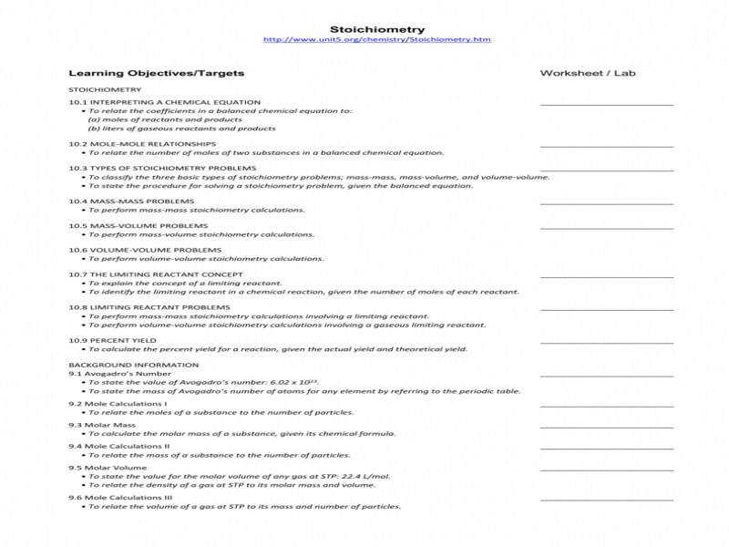 Topics Stoichiometry · Stoichiometry Worksheet Answers Worksheets