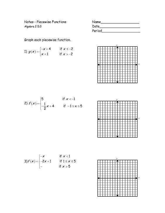 7 best Algebra 1 Unit 5 Piecewise Function images on Pinterest
