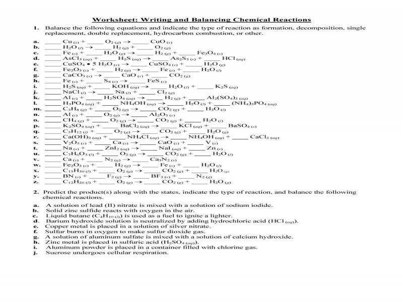 Download by size Handphone Tablet Desktop Original Size Back To Writing Chemical Equations Worksheet Answers