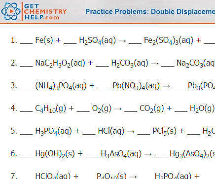Chemistry Practice Problems Balancing Chemical Equations Get Chemistry Help
