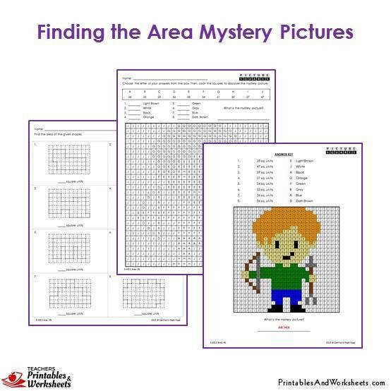 Grade 3 Area Mystery Coloring Worksheets Archer