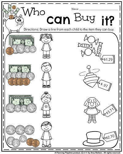 Money Worksheets for 2nd Grade Who Can Buy It