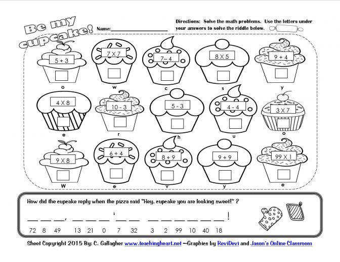 Valentines Day Lessons And Activities Math Worksheets For 3 4 Year Olds Cupcak Maths Worksheets For