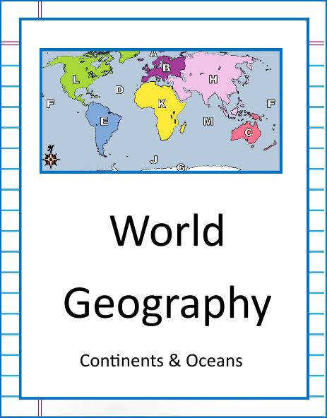 NEW DOWNLOAD WORLD GEOGRAPHY CONTINENTS & OCEANS Download this 22 page unit