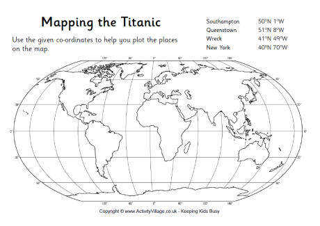 mapping the titanic worksheet 460 0