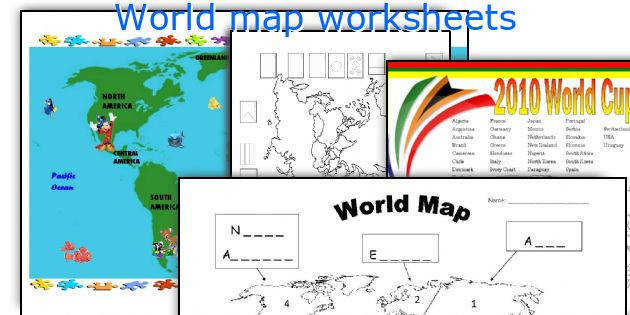 World map worksheets