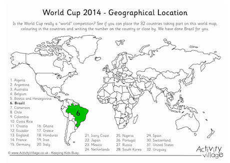Geography and The World Cup