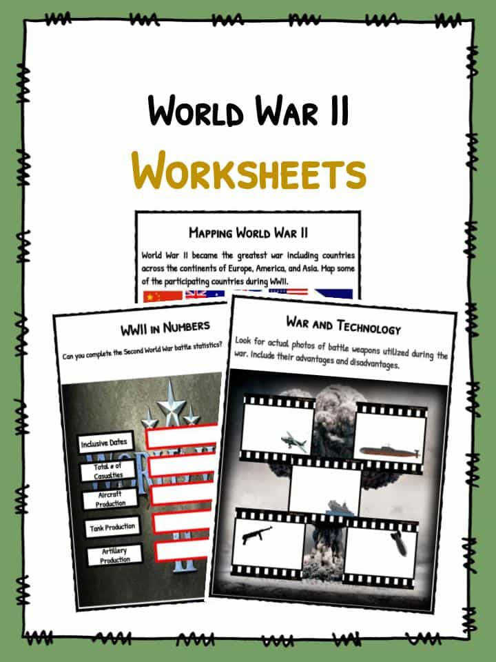 Download the World War II Facts WW2 & Worksheets