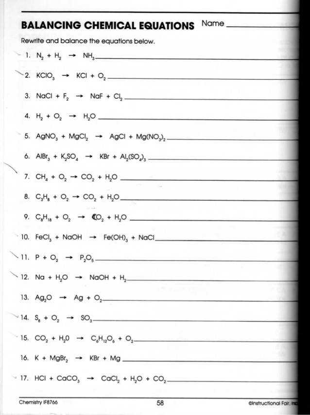 Word Equations Worksheet · Writing Word Equations Chemistry