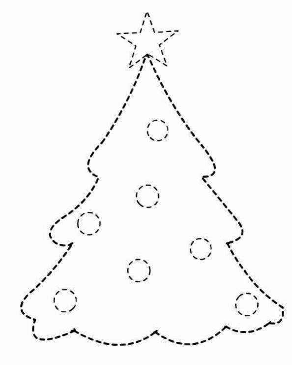 Christmas pre writing sheets christmas tree pre writing worksheets for kids