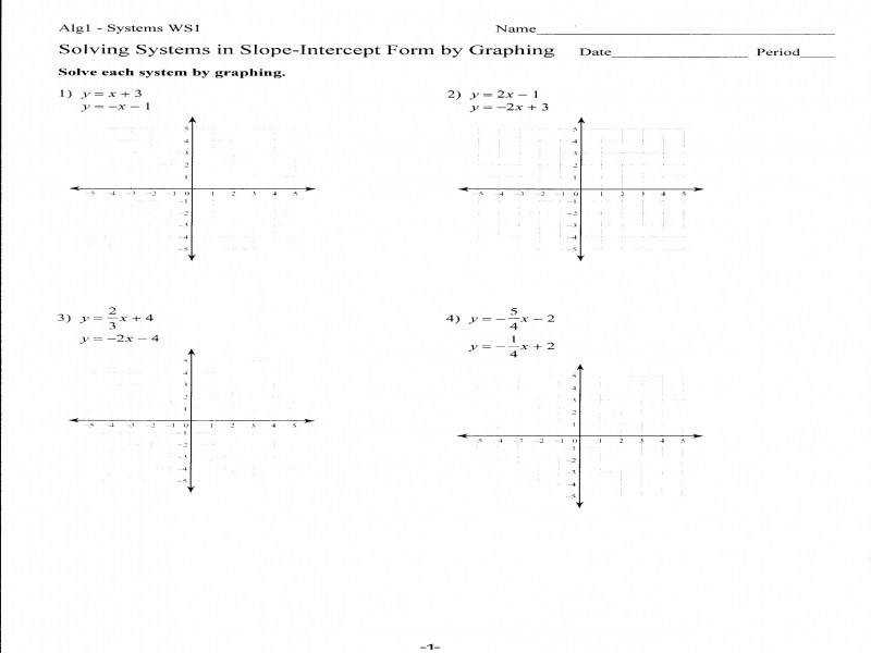 Y Mx B Worksheet Worksheets