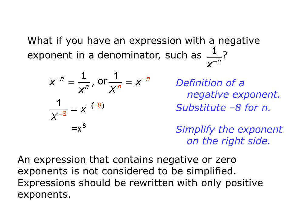 Simplifying Negative Exponents Worksheet Worksheets